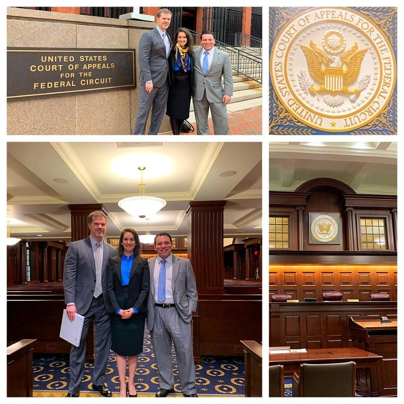 The Proud Team Michele Katz, Advitam IP, John M Jackson and Matt Acosta for our appellate argument before the United States Court of Appeals
