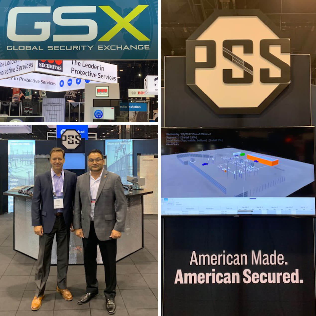 Richard Gurak, Advitam IP, Visits Client, PSS, at GSX Tradeshow