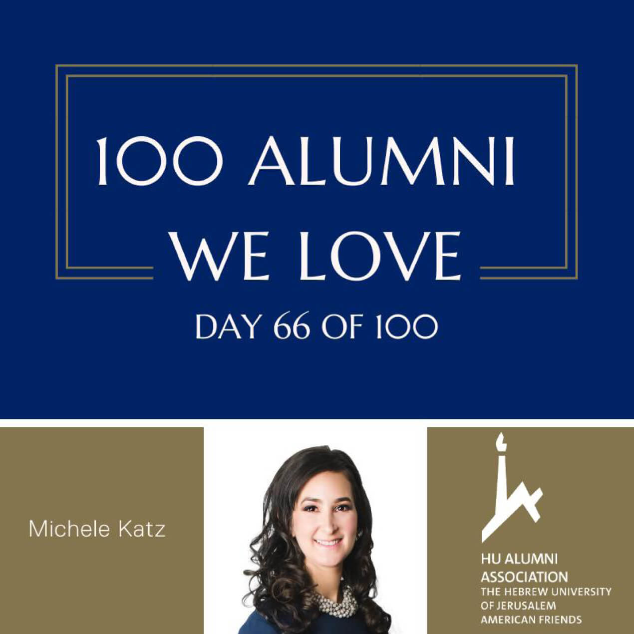 "Michele Katz Featured in The Hebrew University's ""100 Alumni We Love"""