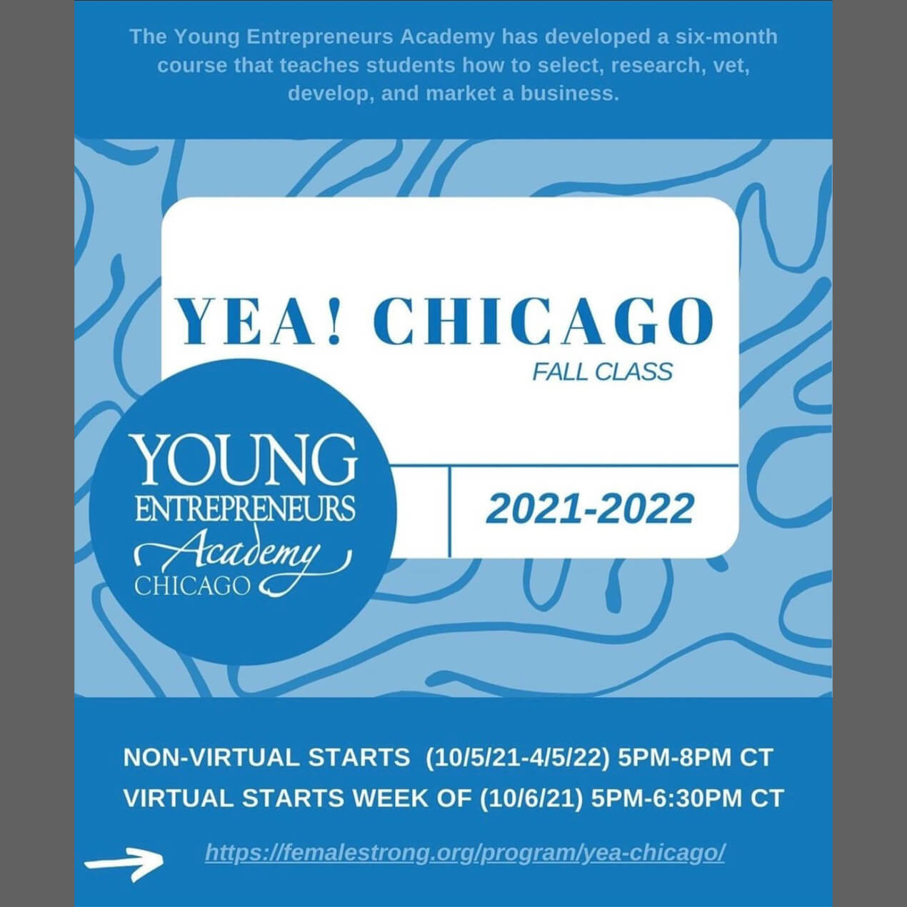 Michele Katz teaches IP to YEA! Chicago 7th year in a row